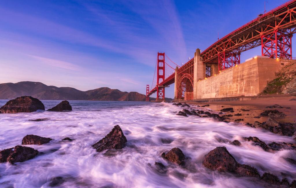 Golden Gate Bridge, Marshall's beach San Francisco Bay Area California USA America Landscape