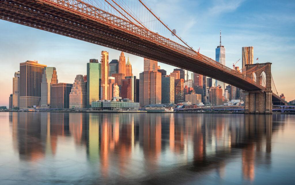 Manhattan Skyline and the Brooklyn Bridge