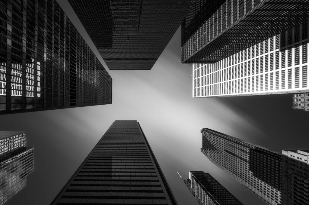 Fine Art Architecture Monochrome Toronto Skyscrapers