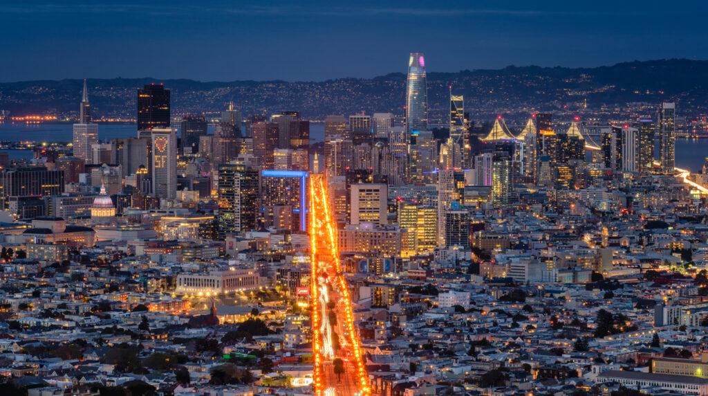 San Francisco Skyline Bay Area California Twin Peaks