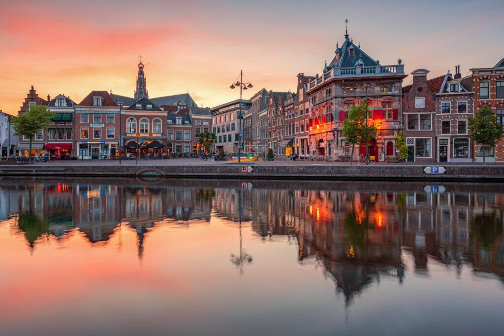 Haarlem Nederland Spaarne City Cityscape Netherlands Holland