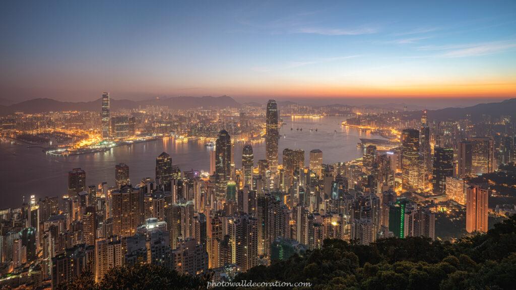 Free Desktop WallPaper photowalldecoration Hong Kong Skyline