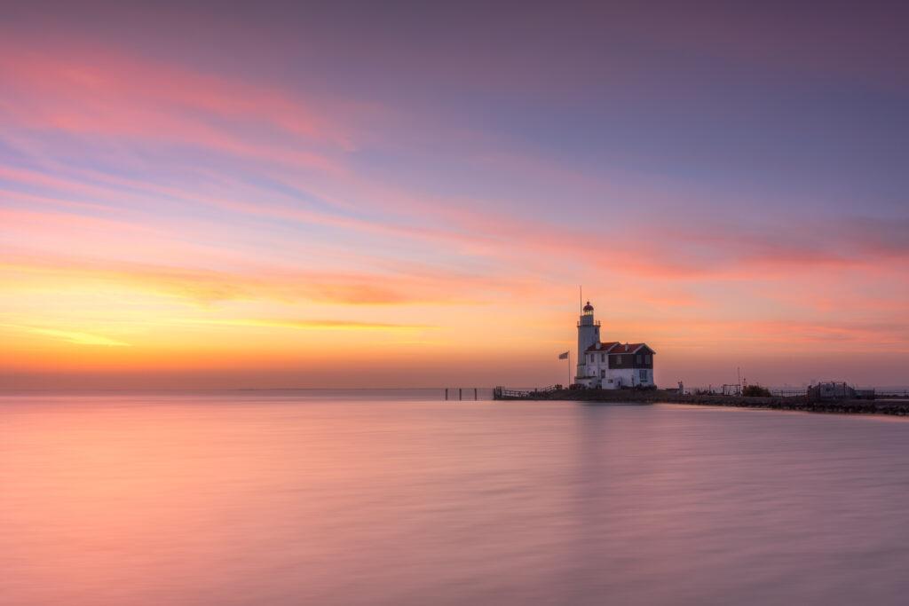 Het Paard van Marken Lighthouse Dutch Landscape Sunrise