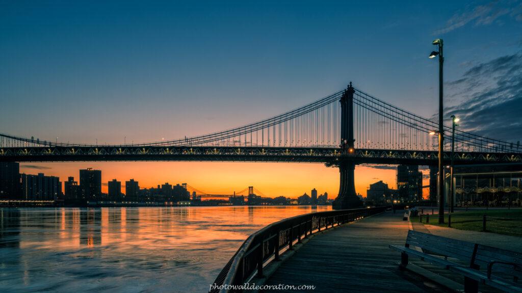Free Desktop WallPaper photowalldecoration Manhattan Bridge