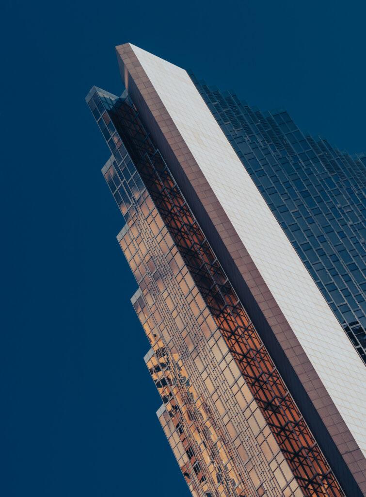 Modern Architecture Gold Blue Building Toronto