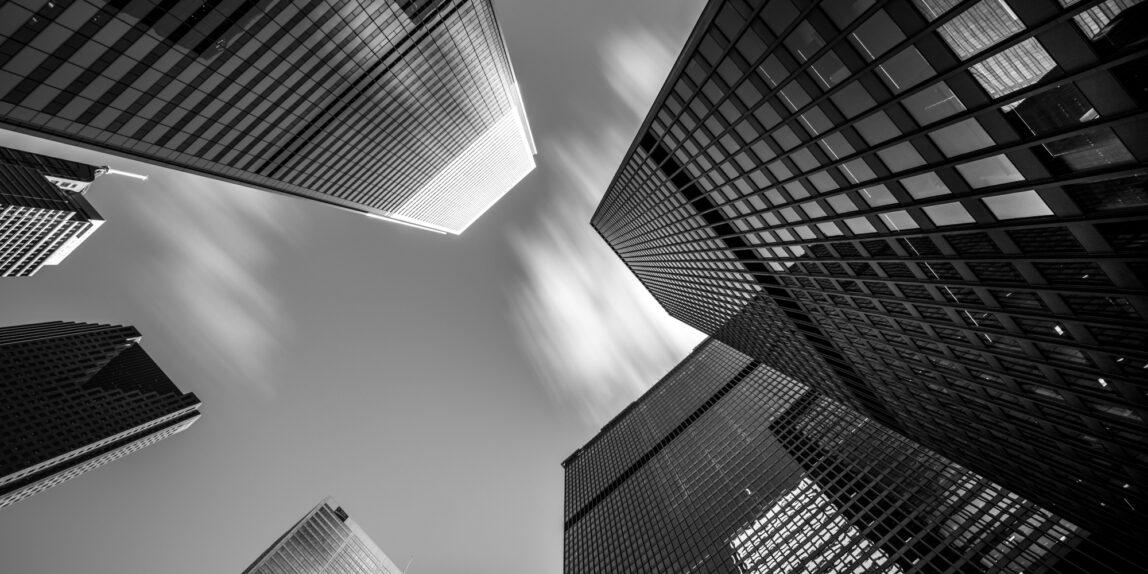 Toronto Ontario Financial District Architecture Skyscraper Monochrome