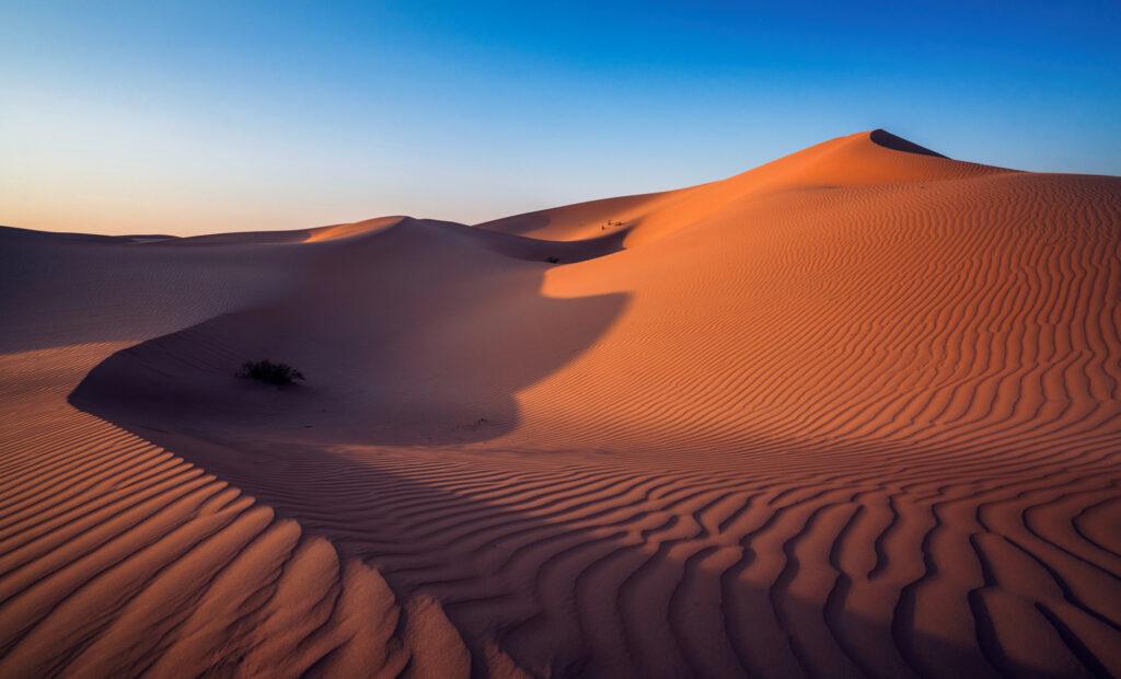 Abu Dhabi Desert Landscape Sunset Sand Dunes Natural Pattern